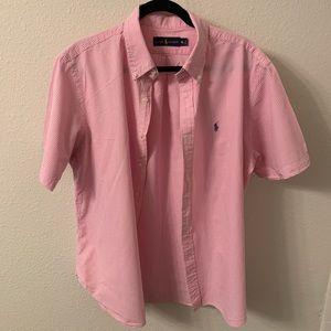 Polo Ralph Lauren Pink Seersucker Shirt XL